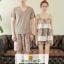 ชุดนอนแฟชั่น ชุดนอนคู่รัก งานผ้าฝ้ายลูกไม้อย่างดีค่ะ thumbnail 2