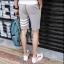 กางเกงขาสั้นแฟชั่นเกาหลี ลายทาง : สีเทา thumbnail 5