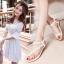 รองเท้า แฟชั่น เกาหลี ทางดอกไม้ประดับ PA001 thumbnail 2