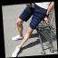 กางเกงขาสั้นแฟชั่นเกาหลี ลายทาง : สีน้ำเงิน thumbnail 4