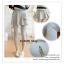 LG051 กางเกงเลคกิ้งขายาว สีเทา มีผ้าประดับเป็นกระโปรง หวานน่ารัก thumbnail 3