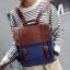 กระเป๋าเป้สะพาย หนัง ผสมผ้า Macarons thumbnail 2
