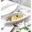 Pre-Order จานเปล เซรามิค ลายปลา มี 3 ขนาด S-L thumbnail 2