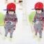 เสื้อผ้าเด็ก ชุดเช็ต เสื้อแขนยาวมีฮูทเห่ห์ๆ + กางเกงขายาว สไตล์เกาหลี thumbnail 2