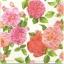 แนวภาพดอกไม้ ดอกกุหลาบ บนพื้นขาว ภาพกระจายเต็มแผ่น กระดาษแนพกิ้นสำหรับทำงาน เดคูพาจ Decoupage Paper Napkins ขนาด 33X33cm thumbnail 1