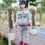 ชุดเซ็ทเด็ก เสื้อแขนยาวมีฮูทเห่ห์ๆ + กางเกงขายาว สไตล์เกาหลี (สีเทา) thumbnail 1