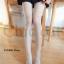 WL017 ถุงน่องแบบเต็มตัว ลายจุด ช่วงข้อเท้ามีลายเชือกพันผูกโบว์ มี 2 สี ขาว ดำ thumbnail 15