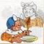แนวภาพการ์ตูน คุณยายแม่ครัว กับไก่ขี้กลัว บนพื้นขาว เป็นภาพแนวยาว กระดาษแนพกิ้นสำหรับทำงาน เดคูพาจ Decoupage Paper Napkins ขนาด 33X33cm thumbnail 1