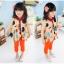 เสื้อผ้าแฟชั่นเด็ก ผ้าชีฟองสีครีม ลายจุด น่ารัก สดใส สไตล์เกาหลี thumbnail 1