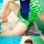 ชุดว่ายน้ำทอม Janest สีน้ำเงินเขียว โคตรเท่ห์ เด่น100เมตร [Pre-Order] S-6XL thumbnail 5