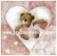 กระดาษสาพิมพ์ลาย rice paper เป็น กระดาษสา สำหรับทำงาน เดคูพาจ Decoupage แนวภาพ Be my Valentine น้องหมี เท็ดดี้ แบร์ teddy bear ในวงล้อมหัวใจถือหัวใจให้คุณ (pladao design) thumbnail 1