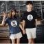 เสื้อคู่รักแขนสั้นมีลายสไตล์เกาหลี thumbnail 6
