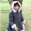 HUANZHUKIDS เสื้อกันหนาวสีเทาเข้ม มีฮุ้ท หนานุ่ม อบอุ่น( ผ้าหนา ) thumbnail 1