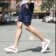 กางเกงขาสั้นแฟชั่นเกาหลี ลายทาง : สีน้ำเงิน thumbnail 3