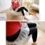 LG002 กางเกงเลคกิ้งขายาว มีผ้าลูกไม้ประดับเป็นกระโปรง หวานน่ารัก มี 4 สี เทาอ่อน เทาเข้ม กรมท่า ดำ thumbnail 10