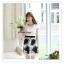 VS013 ชุดเดรสสั้น สีขาว ตัวเสื้อเป็นผ้าชีฟอง มีซับใน ช่วงกระโปรงตัดแต่งด้วยผ้าแก้ว ลายดอกไม้ปักเลื่อมสีดำ มีซับในอย่างดี ซิบซ่อนด้านข้าง งานสวยหวานคะ สำเนา thumbnail 2