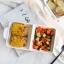 Pre-Order ชามอาหารเซรามิค ทรงถาดสองช่อง มีหู thumbnail 2