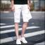 กางเกงขาสั้นสตรีทแฟชั่น Denim : สีขาว thumbnail 1