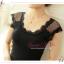 WG048 เสื้อยืด เสื้อซับใน เต็มตัว แขนกุด มี 2 สี ขาว ดำ ผ้ามีความยืดหยุ่น ช่วงแขนและคอเสื้อ ตัดแต่งด้วยผ้าลุกไม้สวยหวาน thumbnail 2