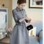 เสื้อแฟชั่นผ้าฝ้าเดรสสไตลเกาหลี-เทา thumbnail 4