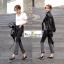 กางเกงยีนส์ยีดไล่สีดำเทา แนวได้ใจมากๆค่ะ thumbnail 1