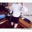 VS042 เสื้อเชิ้ต สีขาว ผ้าลูกไม้ มีซับใน คอปก กระดุมผ่าหน้า งานสวยคะ thumbnail 9