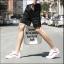 กางเกงขาสั้นแฟชั่นเกาหลี ลายทาง : สีดำ thumbnail 3