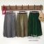 Stylenanda Pleat Metallic Skirt กระโปรงยาวคลุมเข่า เอวยางยืดอัดพลีทรอบตัวกระโปรงค่ะ งานสวยเก๋สไตล์เกาหลี ใส่ทำงาน ใส่เที่ยวได้หมดเลยค่ะ thumbnail 3