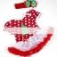 ชุดเดรสเด็กหญิง สีแดงลายจุดขาวตกแต่งด้วยลายต้นคริสต์มาส ผ้าเนื้อดี +ที่คาดผม น่ารักสไตล์เกาหลี thumbnail 1