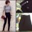 หมดค่ะ:กางเกงขายาวสีดำเอวสูง skinny งาน zara ติดป้ายนะค่ะ ใส่แล้วเก็บหน้าท้อง เข้ารูปดีมากค่ะ เนื้อผ้ายืด ใส่สบายมากค่ะ thumbnail 1