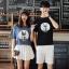 เสื้อคู่รักแขนสั้นมีลายสไตล์เกาหลี thumbnail 4