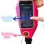 """กระเป๋าแบบคาดเอวแนวสปอร์ตสำหรับใส่มือถือสมาร์โฟนขนาดไม่เกิน 5"""" (สีชมพูสะท้อนแสง) thumbnail 4"""