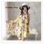 PR030-B ผ้าพันคอแฟชั่น ผ้าไหม พิมพ์ลายสวย ขนาด ยาว 190 กว้าง 160 cm. thumbnail 11