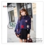 PR095 ผ้าพันคอแฟชั่น ผ้าคลุมไหล่ ผ้าหนา สีกรมท่า พิมพ์ลยสวยขนาด กว้าง 65 ยาว 186 cm. thumbnail 4