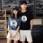 เสื้อคู่รักแขนสั้นมีลายสไตล์เกาหลี thumbnail 8