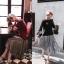 Stylenanda Pleat Metallic Skirt กระโปรงยาวคลุมเข่า เอวยางยืดอัดพลีทรอบตัวกระโปรงค่ะ งานสวยเก๋สไตล์เกาหลี ใส่ทำงาน ใส่เที่ยวได้หมดเลยค่ะ thumbnail 2