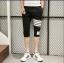กางเกงขาสั้น3ส่วน JOGGER BLACK/WHITE STRIPED thumbnail 4