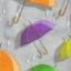แนวภาพลายแต่ง ร่มหลากสี บนพื้นสีเทา ภาพลายกระจายเต็มแผ่น กระดาษแนพคินสำหรับทำงาน เดคูพาจ Decoupage Paper Napkins ขนาด 21X22cm thumbnail 1