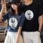 เสื้อคู่รักแขนสั้นมีลายสไตล์เกาหลี thumbnail 5