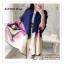 PR078 ผ้าพันคอแฟชั่น ผ้าไหม พิมพ์ลายสวย อย่างดี งานสวยคะ ขนาด กว้าง 90 ยาว 195 cm. thumbnail 2