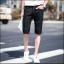 กางเกงขาสั้นสตรีทแฟชั่น Denim : สีดำ thumbnail 1