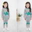 Huanzhu kids ชุดเซตเด็กหญิง 2 ชิ้น เสื้อ+กางเกง ผ้าเนื้อดีน่ารักสไตล์เกาหลี มีขนาด140 thumbnail 3