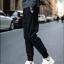 กางเกงขายาวแฟชั่น ทรงJOGGER PANTS สีดำ thumbnail 3
