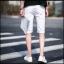 กางเกงขาสั้นสตรีทแฟชั่น Denim : สีขาว thumbnail 6