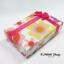 GL078 กล่องของขวัญ ลายดอกไม้สวยหวาน พร้อมโบว์สีชมพู ไว้ใส่เครื่องประดับ ต่างหู thumbnail 1