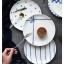 Pre-Order จานข้าวเซรามิค สไตล์ Nordic สีฟ้าขาว มี 5 ลาย thumbnail 2