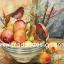 กระดาษสาพิมพ์ลาย สำหรับทำงาน เดคูพาจ Decoupage แนวภาำพ นกน้อยตัวอ้วนกลม 2 ตัว นั่งเล่นอยู่ในชามใส่ผลไม้ ลูกแพร์ เป็นภาพวาดสีสวยคลาสสิค (ปลาดาวดีไซน์) thumbnail 1