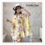 PR030-B ผ้าพันคอแฟชั่น ผ้าไหม พิมพ์ลายสวย ขนาด ยาว 190 กว้าง 160 cm. thumbnail 3
