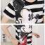 เดรสการ์ตูนมิกกี้เม้าท์ แขนสั้นชุดเสื้อยืดสไตล์เกาหลี ลายขวาง thumbnail 8