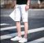 กางเกงขาสั้นสตรีทแฟชั่น Denim : สีขาว thumbnail 2